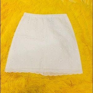 Mini White Skirt 00P Loft